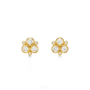 Temple St. Clair 18k Yellow Gold and Diamond Studs