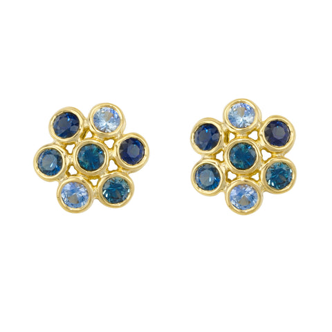 Aaron Henry 18k Yellow Gold Sapphire Studs