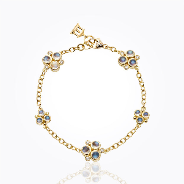 Temple St. Clair 18k Royal Blue Moonstone and Diamond Bracelet