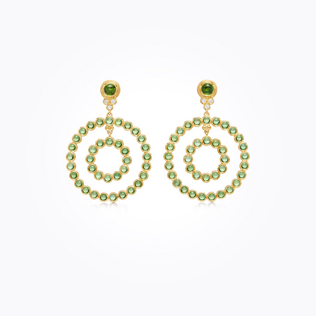 Temple St. Clair 18k Yellow Gold Green Tourmaline and Diamond Drops