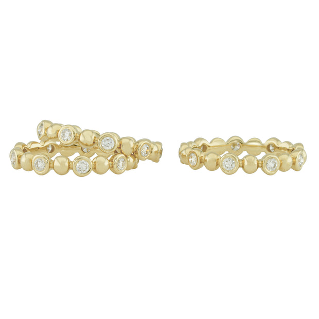 14k Yellow Gold Diamond Stack Rings