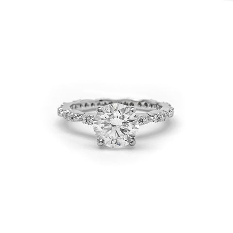 Platinum Round Brilliant Cut Diamond Ring