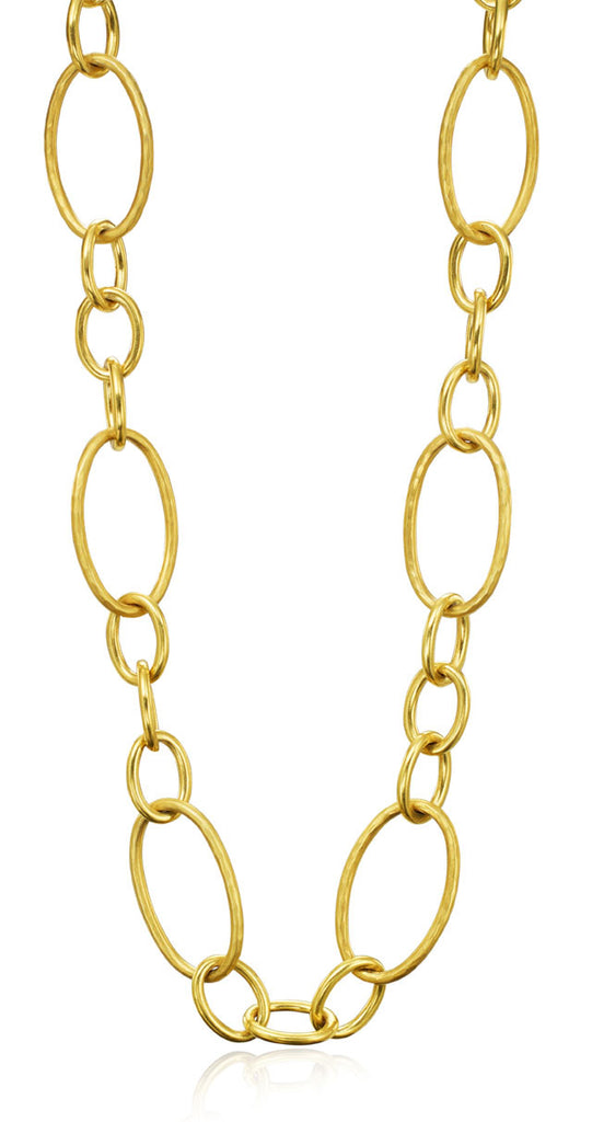 18kt Yellow Gold Open Link Necklace