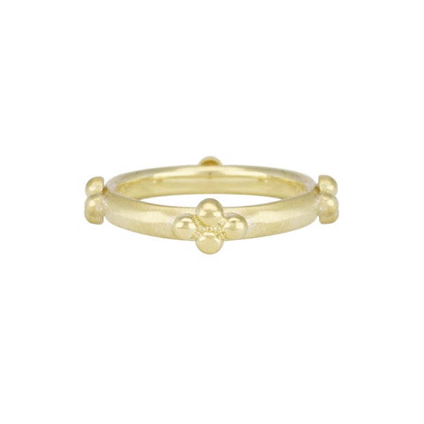 14k Yellow Gold Beaded Ring