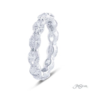 JB Star Platinum and Diamond Eternity Oval Shared Prong Band