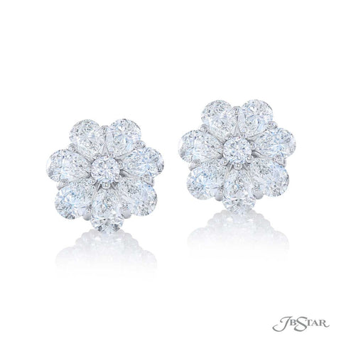 JB Star Platinum Diamond Studs