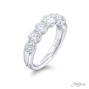 JB Star Platinum Round Diamond Band