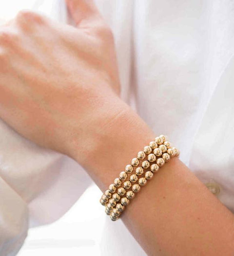 Zoe Lev 14k Yellow Gold 6mm Bead Bracelet