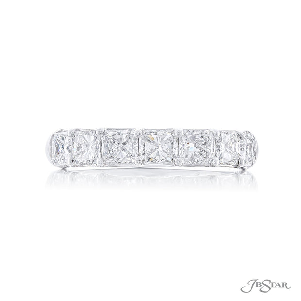 JB Star Platinum Radiant Cut Diamond Band