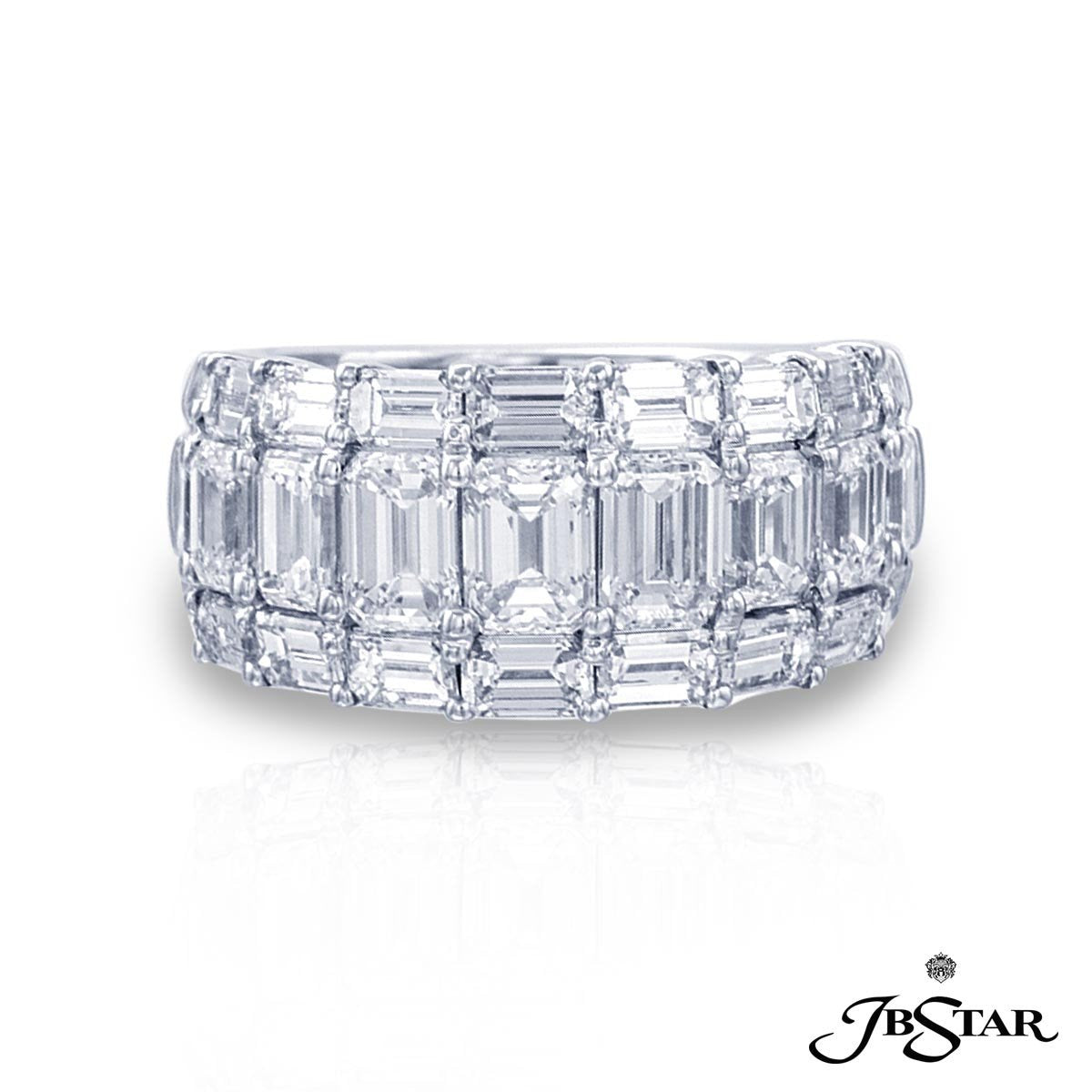 gitter emerald platinum product eternity in reuven diamond cut band jewelers