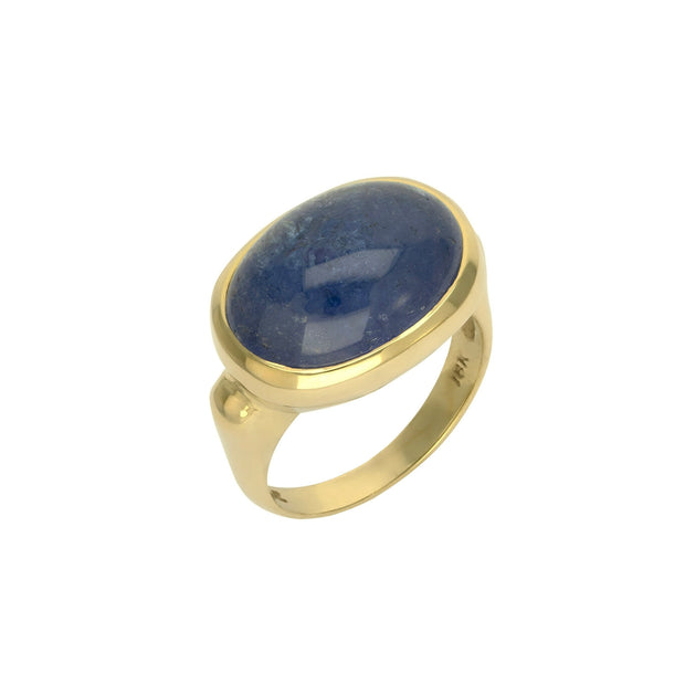 14k Yellow Gold Tanzanite Cabachon Ring