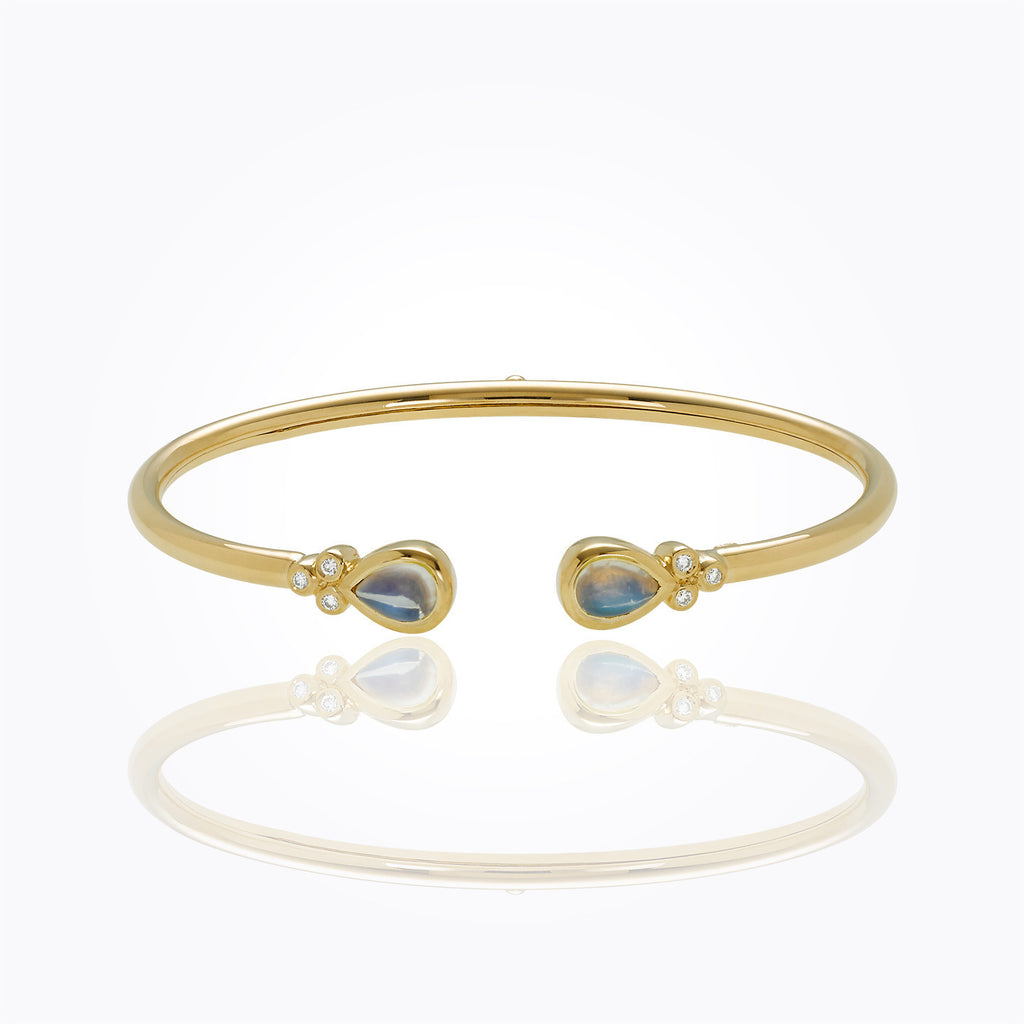 Temple St. Clair 18KT Bellina Bangle with Diamonds