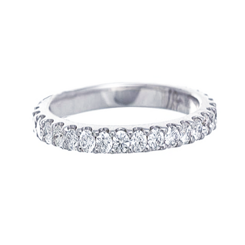 Platinum Shared Prong Set Diamond Eternity Band