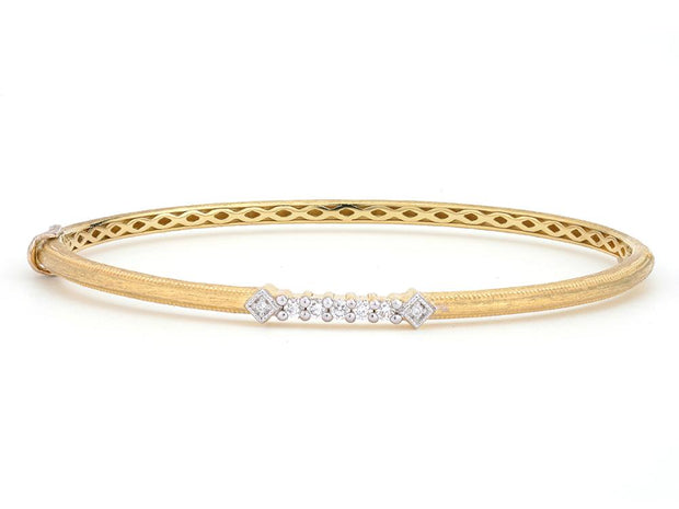 Jude Frances 18k Yellow Gold Diamond Bangle