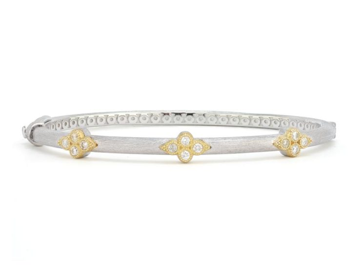 Jude Frances Sterling Silver Triple Moroccan Trio Bangle with Gold