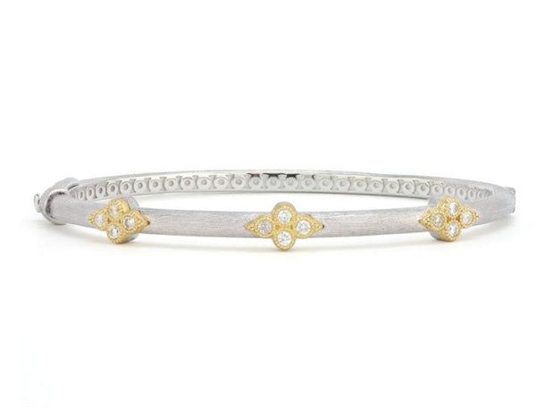 Jude Frances Sterling Silver and 18k Yellow Gold Trio Bangle