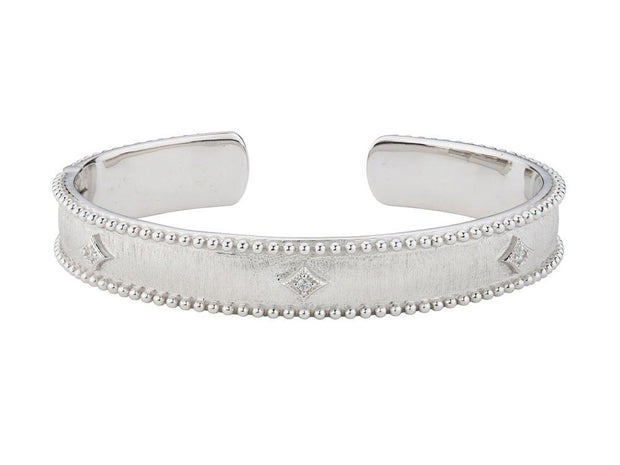 Jude Frances Sterling Silver Narrow Beaded Cuff