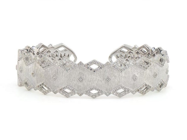 Jude Frances Sterling Silver Pave Kite Cuff