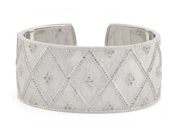 Jude Frances Sterling Silver Moroccan Quad Pave Cuff
