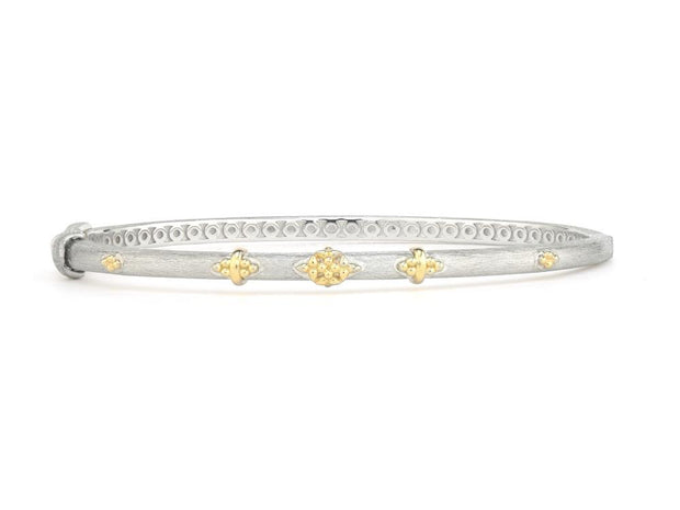 Jude Frances Mixed Metal Beaded Trio Bangle