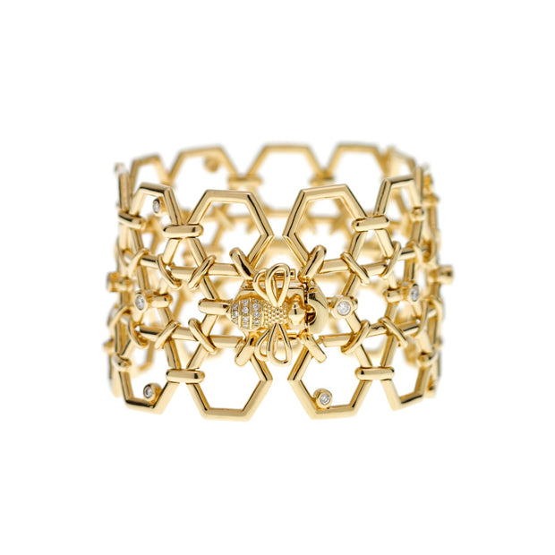 Temple St. Clair 18K Yellow Gold Beehive Link Bracelet