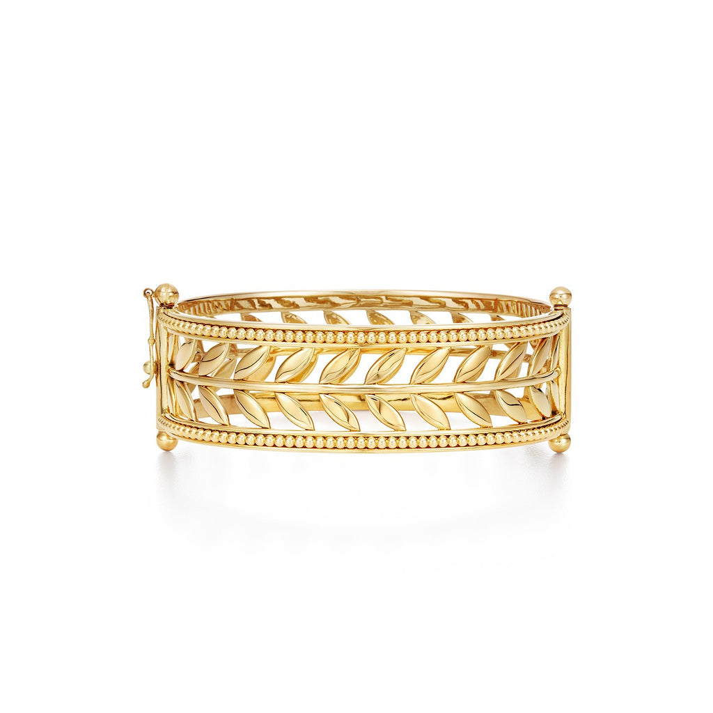 Temple St. Clair 18KT Granulated Vine Cuff