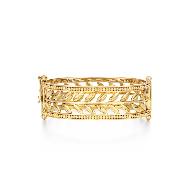 Temple St. Clair 18k Yellow Gold Granulated Vine Cuff
