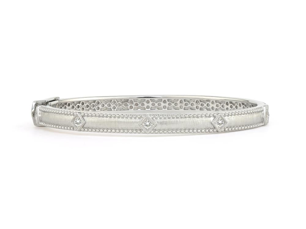 Jude Frances Sterling Silver Simple Lisse Kite Bangle