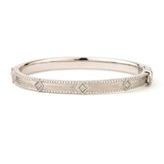 Jude Frances Silver Lisse Simple Kite Shape Bangle
