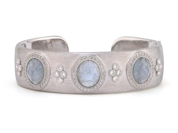 Jude Frances Sterling Silver Provence Three Stone Cuff