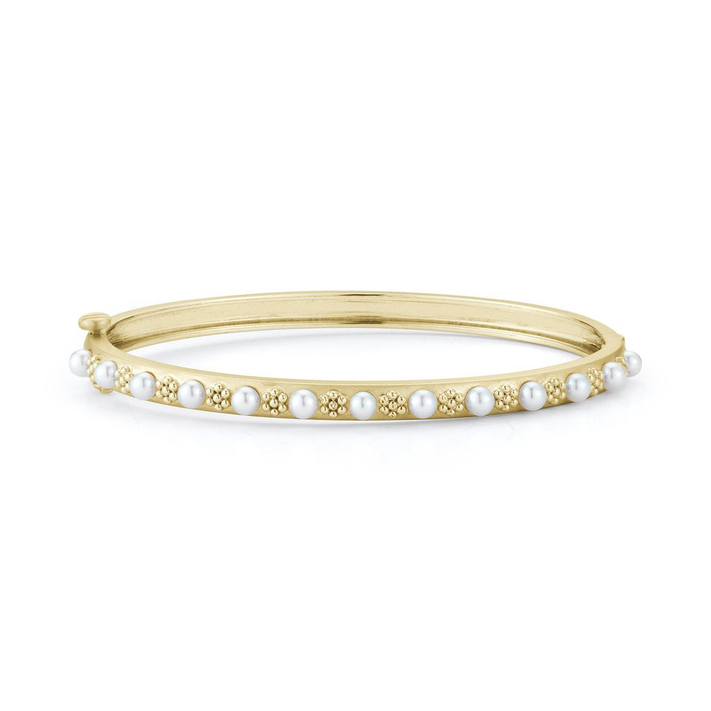 Penny Preville 18kt Yellow Gold Akoya Pearl Bangle Bracelet
