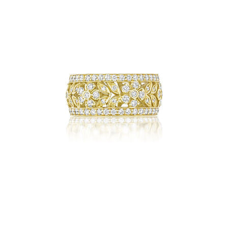 Penny Preville Garland 18K Yellow Gold & Diamond Flower Band
