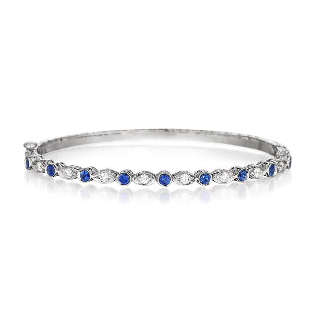Penny Preville Blue Sapphire and Diamond Bangle