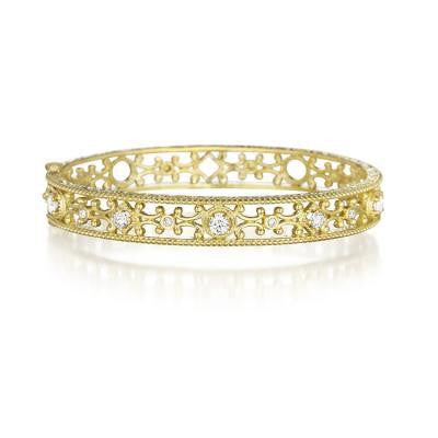 Penny Preville 18kt Yellow Gold Diamond Scroll Bracelet