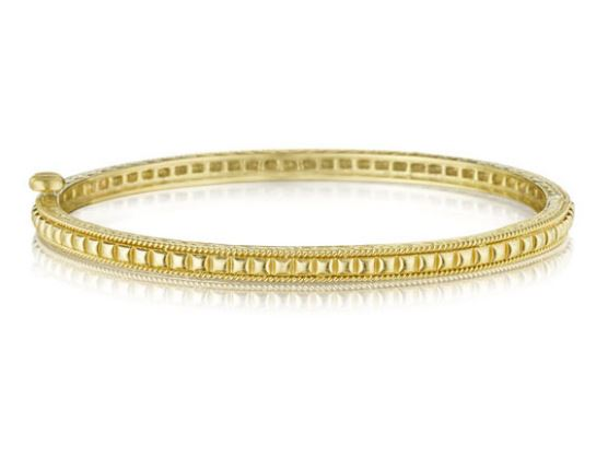 Penny Preville 18k Yellow Gold Beaded Bangle