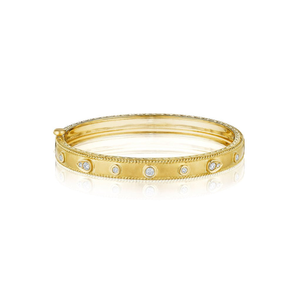 Penny Preville 18kt Yellow Gold Diamond Bangle Bracelet