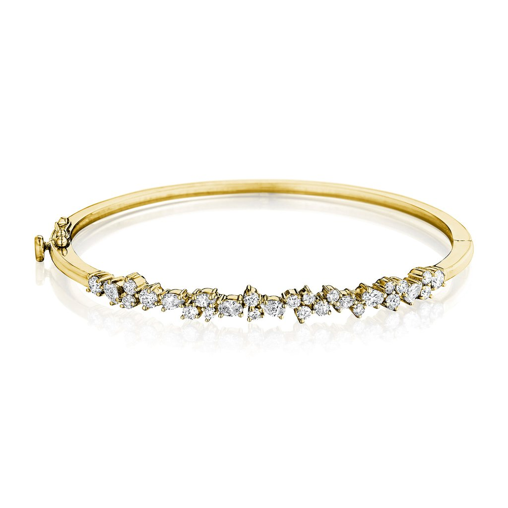 Penny Preville 18kt Yellow Gold Stardust Bangle Bracelet