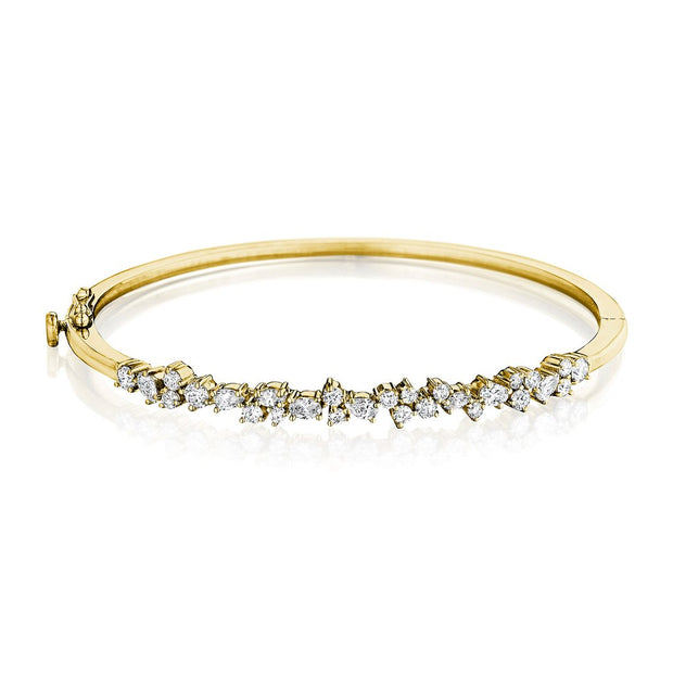 Penny Preville 18k Yellow Gold Stardust Bangle