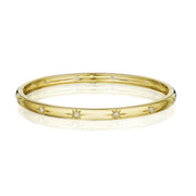Penny Preville 18k Yellow Gold Starburst Bangle