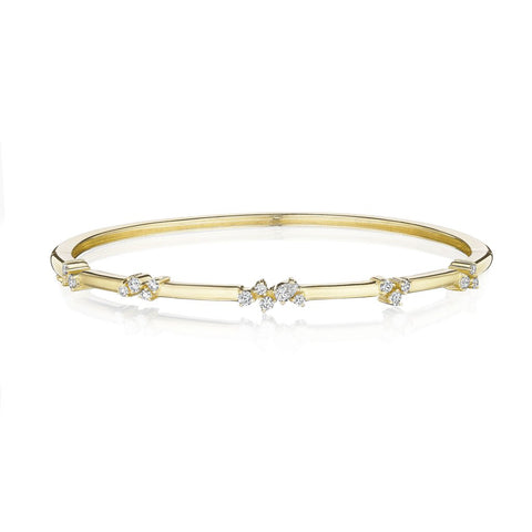 Penny Preville 18k Yellow Gold Stardust Cluster Bangle