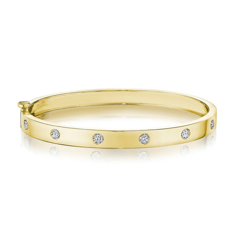 Penny Preville 18k Yellow Gold Diamond Bangle