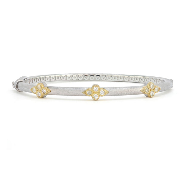 Jude Frances 18K Yellow Gold and Sterling Silver Triple Trio Bangle