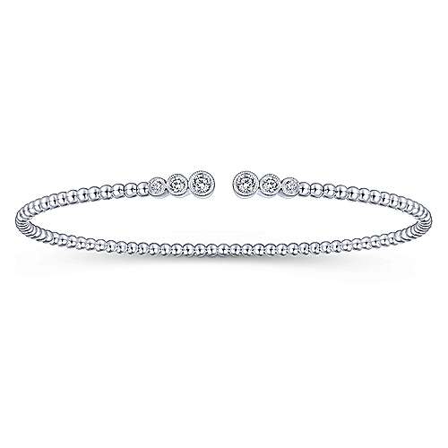 14 Karat White Gold and Diamond Bangle