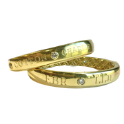 LPL Signature Collection Custom 18k Yellow Gold Bangle