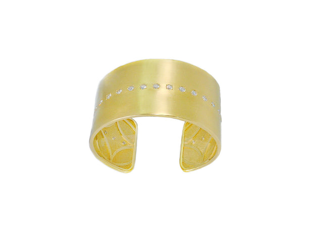 LPL Signature Collection 18k Yellow Gold Diamond Cuff
