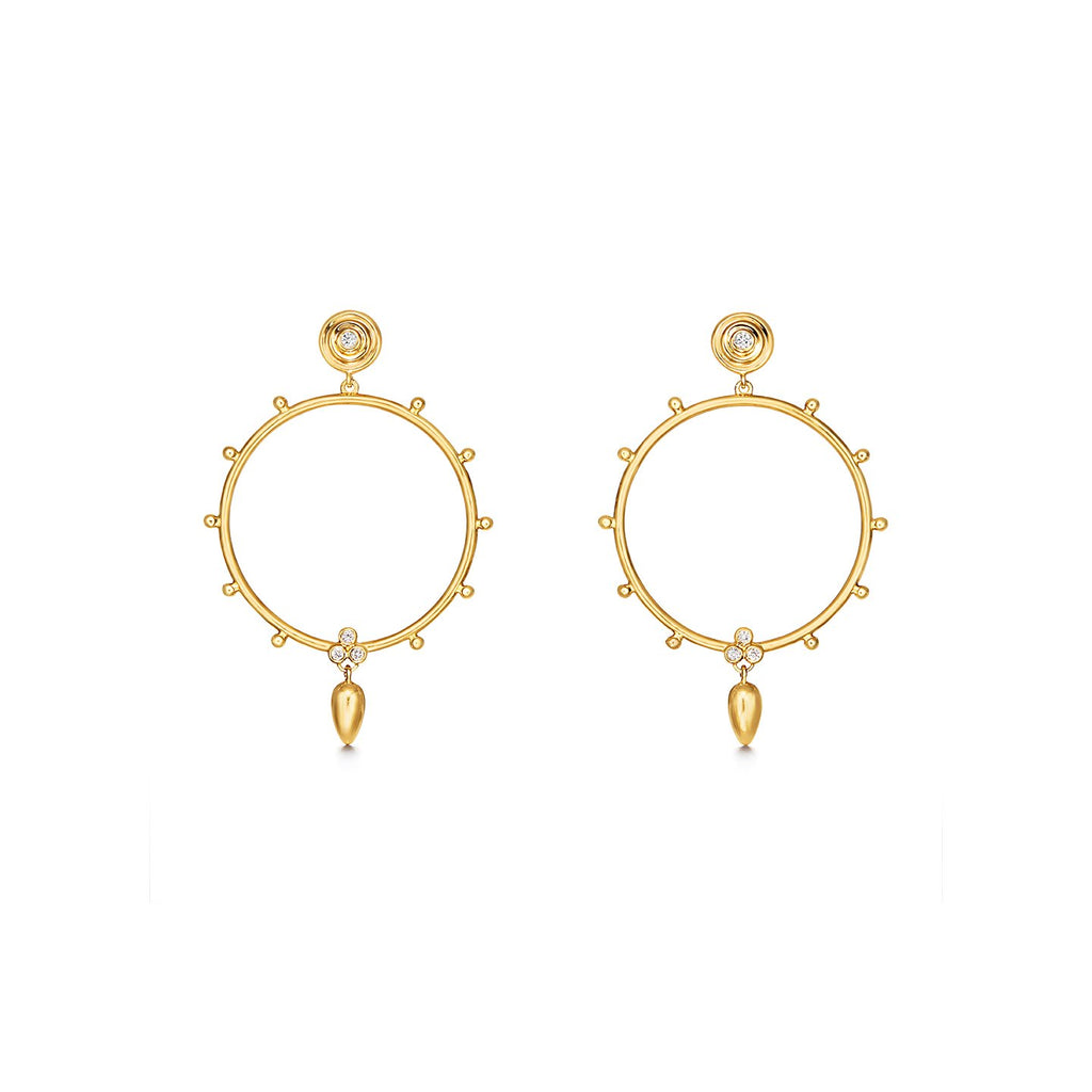 Temple St. Clair 18K Circle Anfora Earrings