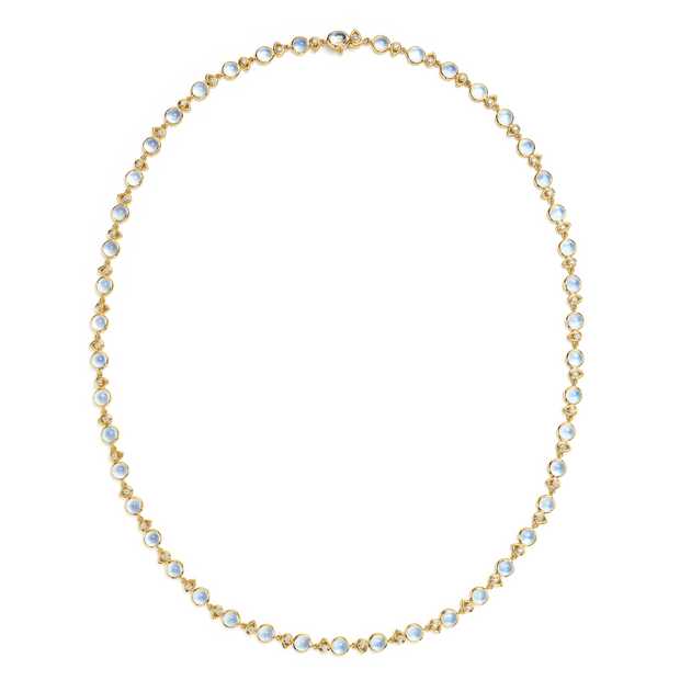 Temple St. Clair 18k Yellow Gold Blue Moonstone and Diamond Necklace