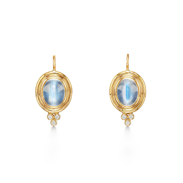 Temple St. Clair 18k Oval Moonstone and Diamond Drops
