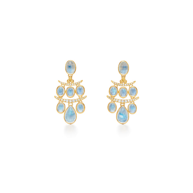 Temple St. Clair 18k Yellow Gold Moonstone and Diamond Drops