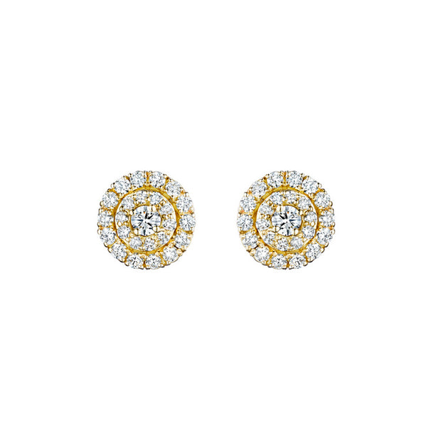 Penny Preville 18k Yellow Gold Round Diamond Studs
